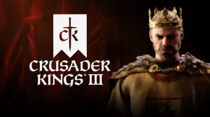 """This is a piece of promotional material used by Paradox Interactive to promote the game """"Crusader Kings III,"""" the recently released sequel to the fan favorite grand strategy game """"Crusader Kings II."""""""