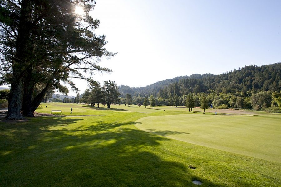 The San Geronimo golf course is in an awkward limbo, bought by the Trust for Public Land, the County hopes to buy it.