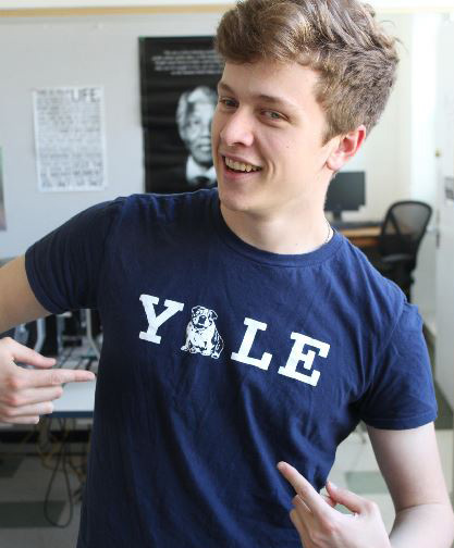 Will Salaverry bragging about the fact that he got accepted into Yale, a classic move from the true slacker of the class.
