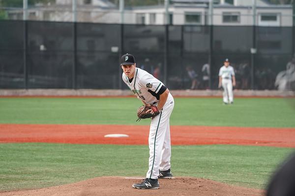 Senior Ryan McLaughlin pitches during an MCAL game.