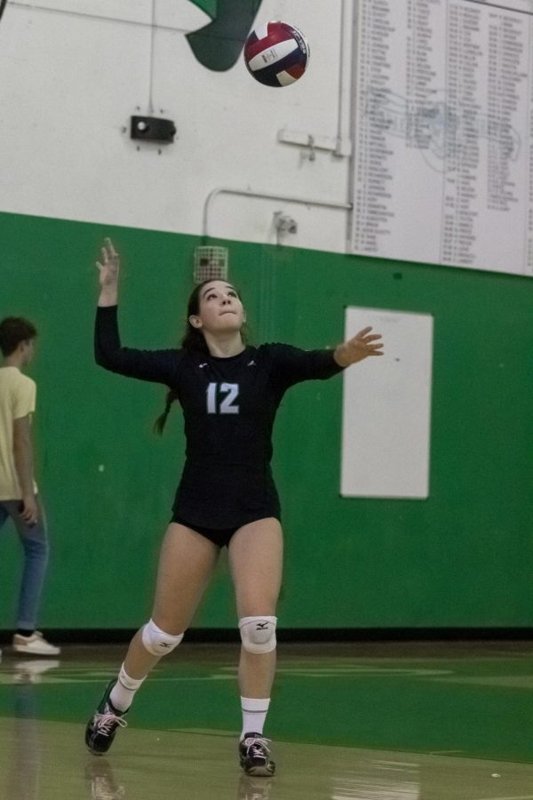 Charlotte Cosentino prepares to follow through on her impressive serve on Friday 9/20