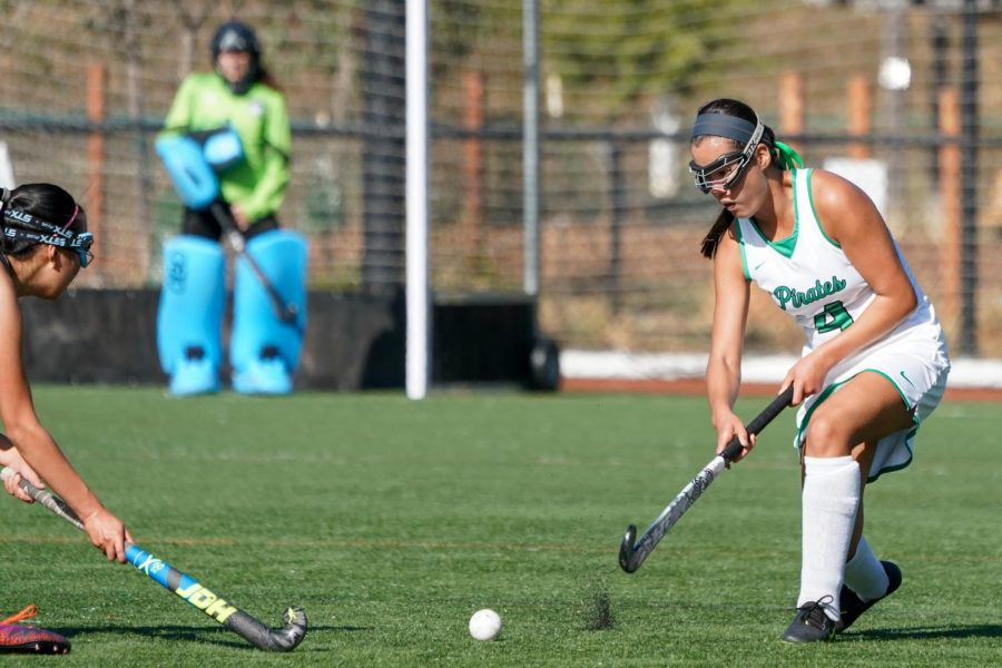 Mia Lacey clears the ball against Lick-Wilmerding at Redhill 9/18