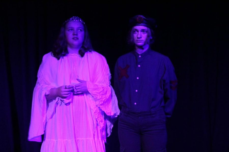 Claire Love and Amber Simon in Antigone X. Photo courtesy Peter Parish.
