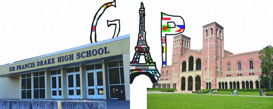 Original art by Samantha Parr representative of bridging the gap between high school and beyond.