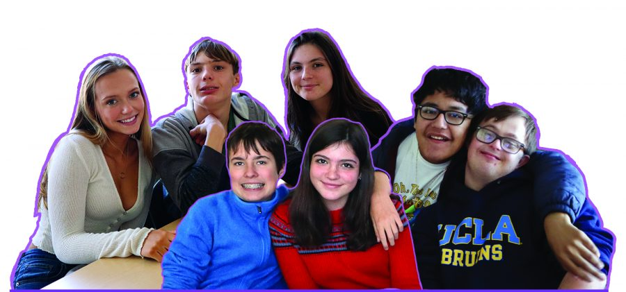 Drake students pose for a picture during a PALS lunch activity