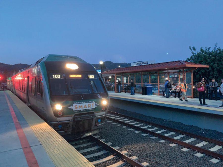 The SMART Train at the San Rafael station.