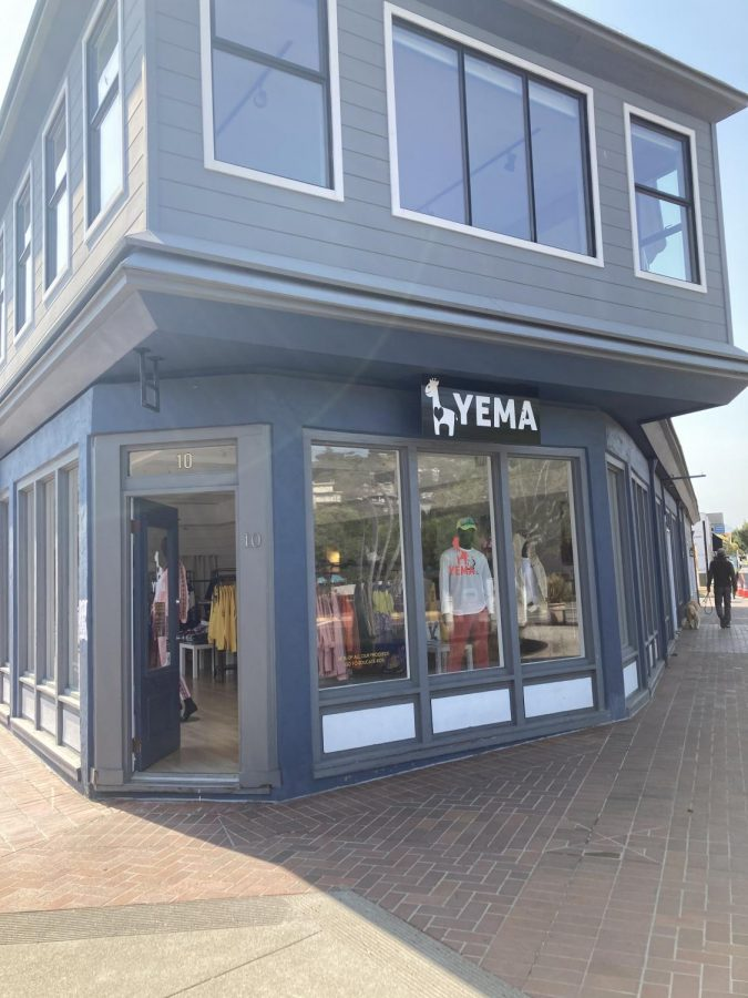 Yema Khalifs clothing store in downtown Tiburon where the owners were the target of a confrontation with police on August 21, 2020.