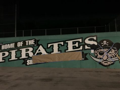 Former Sir Francis Drake High School signage defaced by anonymous students demanding name change. - September 16, 2020