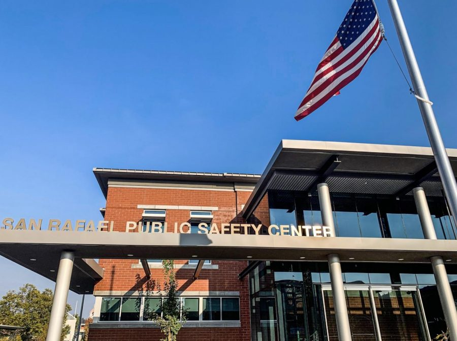 The San Rafael Public Safety Center, a recently renovated building for fire and police, on fifth street in downtown San Rafael.