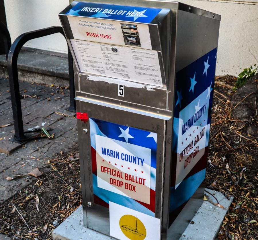 Ballot Boxes like this one in San Anselmo are open for early voting.