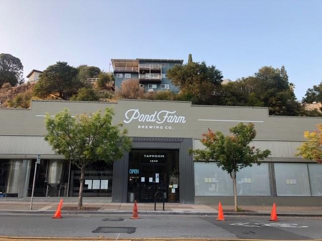 Pond Farm Brewing Company a brewpub in San Rafael on Tuesday, September 15