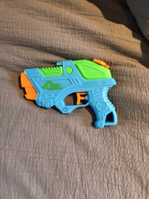 A picture of a watergun, used to eliminate your targets in assassin.