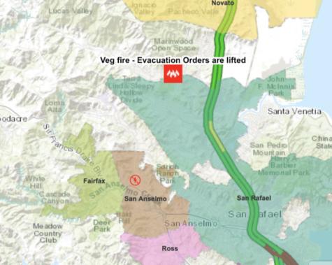 Fire begins in Lucas Valley, evacuation orders called off
