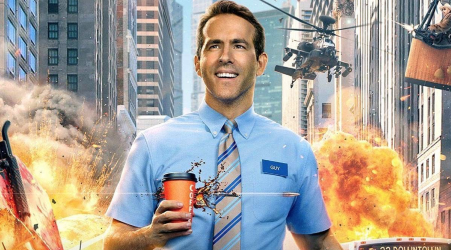 Free+Guy%2C+starring+Ryan+Reynolds%2C+gives+viewers+an+enjoyable+film+experience+while+also+carrying+underlying+inspirational+themes.+%28promotional+material+courtesy+of+20th+Century+Studios%29