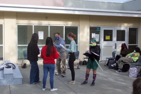 Mr Thelin, the drama teacher, working on the Macbeth play with his advanced students. (September 17)